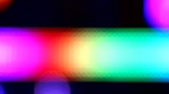 Defocussed flickering lights bokeh background vivid colors Stock Footage