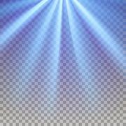 Blue flare rays - stock illustration