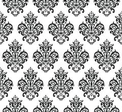 Black and white Seamless Repeating Vector Pattern. Elegant Design Stock Illustration