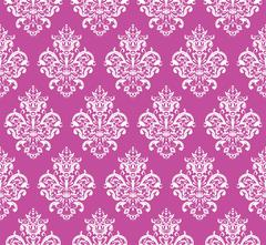 Pink Seamless Repeating Vector Pattern. Elegant Design Stock Illustration