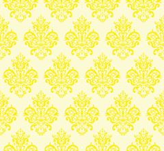 Yellow Seamless Repeating Vector Pattern. Elegant Design Stock Illustration