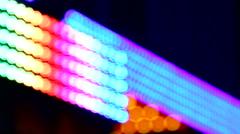 Defocused flickering lights bokeh background vivid colors Stock Footage