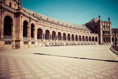 Beautiful Plaza de Espana, Sevilla, Spain - stock photo