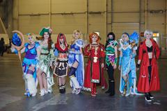 female cosplay LAN final WePlay League Season 3 Dota 29 April - 1 May Kiev, U - stock photo