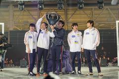 South Korea winner team LAN final WePlay League Season 3 Dota 29 April - 1 Ma - stock photo