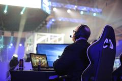 LAN final WePlay League Season 3 Dota 29 April - 1 May Kiev Ukraine Stock Photos