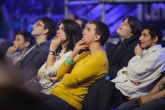 Fans LAN final WePlay League Season 3 Dota 29 April - 1 May Kiev Ukraine Stock Photos