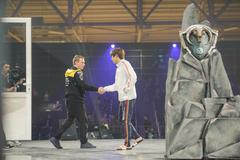 Players LAN final WePlay League Season 3 Dota 29 April - 1 May Kiev Ukraine Stock Photos