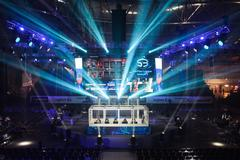 arena stage LAN final WePlay League Season 3 Dota 29 April - 1 May Kiev Ukrai - stock photo