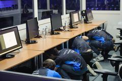 Computers LAN final WePlay League Season 3 Dota 29 April - 1 May Kiev Ukraine Stock Photos