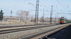 The movement of freight trains Stock Footage