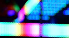 Defocused flickering lights bokeh background Stock Footage