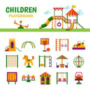 Children Playground Equipment - stock illustration