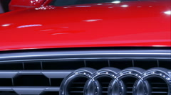 4K close up on the front of a car - stock footage
