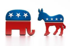 USA Political party symbols Stock Illustration