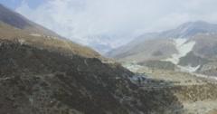 Houses near mountainous area - stock footage