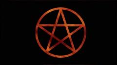Fire pentagram vj loop Stock Footage