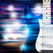 Abstract grunge background with electric guitar Piirros
