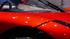 4K beautiful italian sport car - stock footage