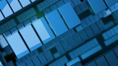 Blue geometric squares. Stock Footage