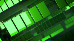 Green geometric squares Stock Footage