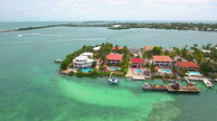 Luxury waterfront Florida Keys homes and boats Stock Footage