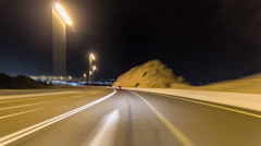 Curvy road through the Jebel Hafeet road timelapse hyperlapse, Al Ain, United Stock Footage