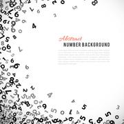 Abstract math number background. Vector illustration Stock Illustration