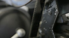 Sprockets of cinema camera Stock Footage