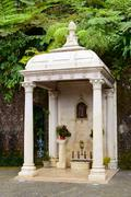 Drinking fountain of Our Lady of Monte Stock Photos