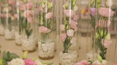 Weding flowers Stock Footage