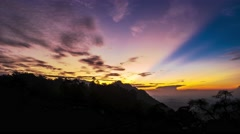 Spectacular sunrise in highlands. 4K resolution time lapse. Sri Lanka Stock Footage