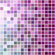 Color square tile mosaic background design - stock illustration