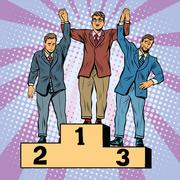 Competition in business, winner loser Stock Illustration