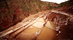 Salt Saline in Maras, Peru Stock Footage