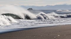 Pacific Coast of Kamchatka Peninsula Stock Footage