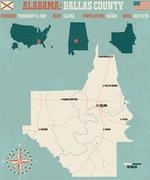 Dallas County in Alabama USA Piirros