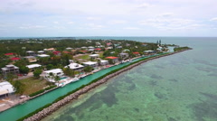 Florida Keys waterfront real estate aerial video Stock Footage