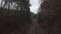 Rail road drone 4K DLog Stock Footage