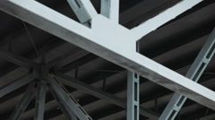 Metal structure of a mall Stock Footage