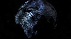 Digital world globe Stock Footage
