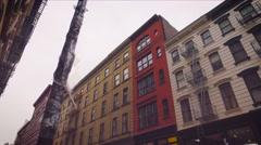 SOHO buildings in NYC Stock Footage