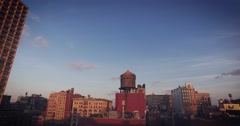 Dolly shot of rooftops of SOHO in NYC - stock footage