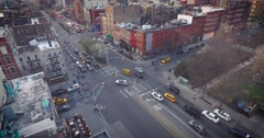 Tilt up shot of busy SOHO traffic in NYC - stock footage