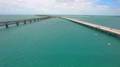 The Florida Keys 7 mile bridge Stock Footage