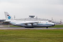 Moscow, Russia - August 2013  Soviet cargo plane Antonov An124 Stock Photos