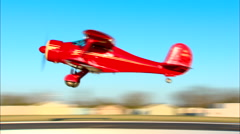 Beech Staggerwing Take Off Stock Footage