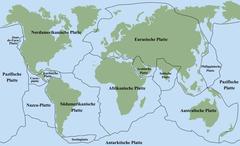 Plate Tectonics German Stock Illustration