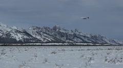 Mountain Range in Wyoming Stock Footage