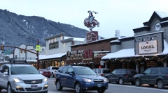 Snowy Jackson Hole Stock Footage